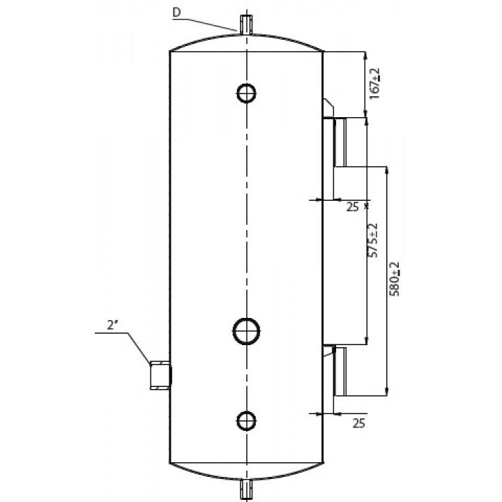 Буферная емкость (теплоаккумулятор) HPS3-7